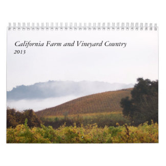 Granja de California y país 2013 del viñedo Calendarios De Pared
