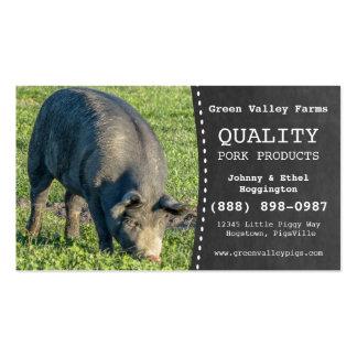 Granja de cerdo del cerdo del productor del cerdo tarjetas de visita