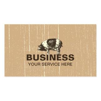 Granja de cerdo profesional tarjetas de visita
