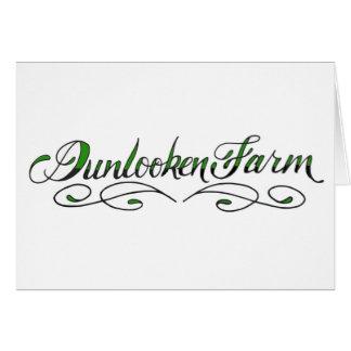 Granja de Dunlooken Tarjeta De Felicitación