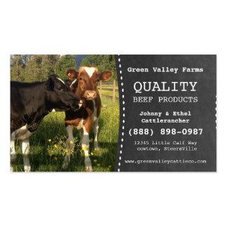 Granja de ganado del productor de la carne de vaca tarjeta de visita