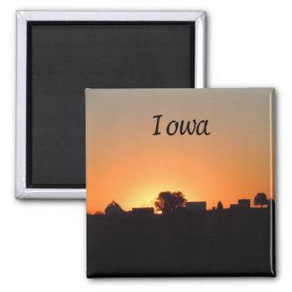 Granja de Iowa Imán Cuadrado