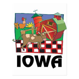 Granja de Iowa Tarjeta Postal