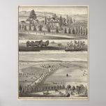 Granja de la huerta, casa de campo de Somerville Impresiones