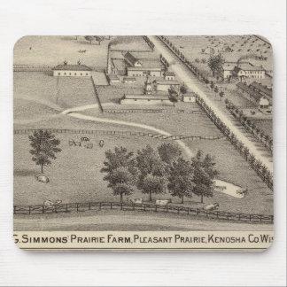 Granja de la pradera de Simmon, curación de agua d Alfombrilla De Raton