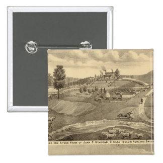 Granja de la residencia y de la acción pin cuadrada 5 cm