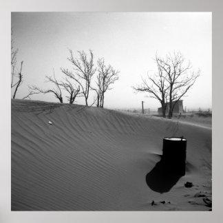 Granja de la zona desértica - Oklahoma occidental Póster