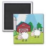 Granja de las ovejas imán de frigorifico