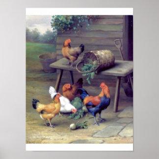 Granja de los nabos del gallo póster