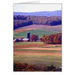 Granja de Pennsylvania en otoño Tarjeta De Felicitación