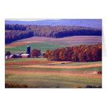 Granja de Pennsylvania en otoño Tarjeta