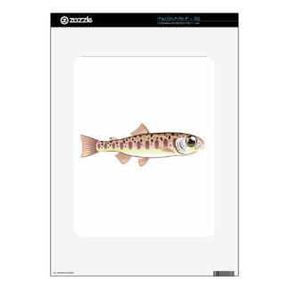 Granja de pescados cartoonified trucha del arte skin para el iPad