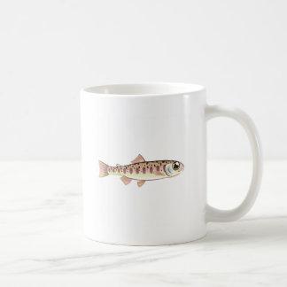 Granja de pescados cartoonified trucha del arte taza