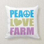 Granja del amor de la paz almohada