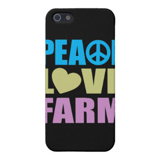 Granja del amor de la paz iPhone 5 carcasas