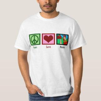 Granja del amor de la paz poleras