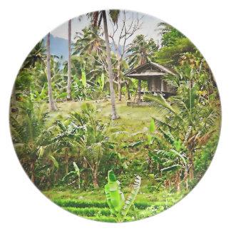 Granja del Balinese Plato De Comida