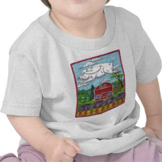 Granja del conejo de Pascua Camisetas