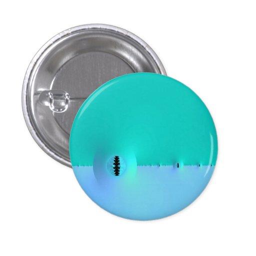 Granja del fractal en botón del azul y de la turqu pin
