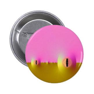 Granja del fractal en rosa y botón del oro pins