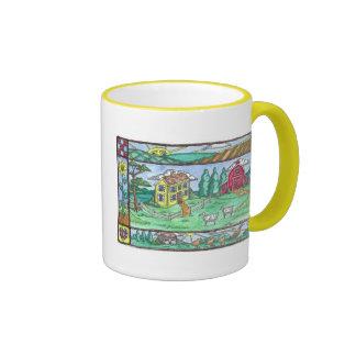 Granja del girasol taza de café