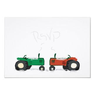 """Granja del invierno que casa la tarjeta de RSVP Invitación 3.5"""" X 5"""""""