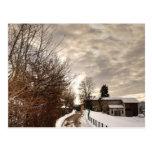 Granja del invierno tarjeta postal