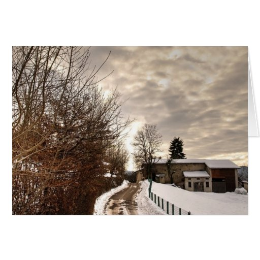 Granja del invierno tarjeton