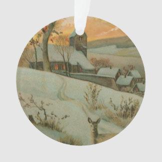 Granja del navidad del vintage con los ciervos