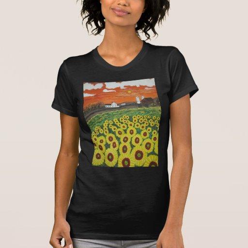 Granja del valle de ISunflower Camisetas
