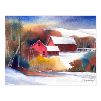Granja del valle de Nueva Inglaterra Postales