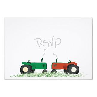 Granja del verano que casa la tarjeta de RSVP Comunicados