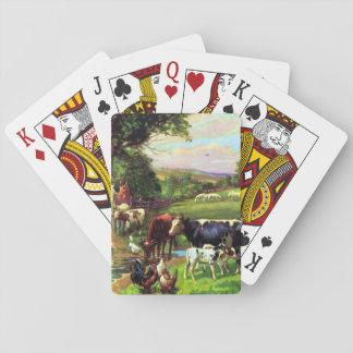 Granja del vintage baraja de póquer