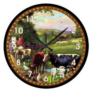 Granja del vintage reloj redondo grande