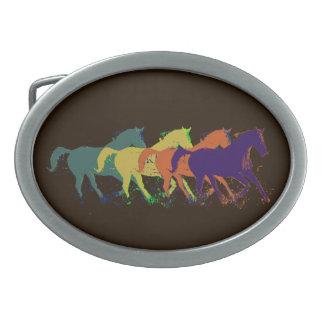 granja elegante del caballo hebillas de cinturon ovales