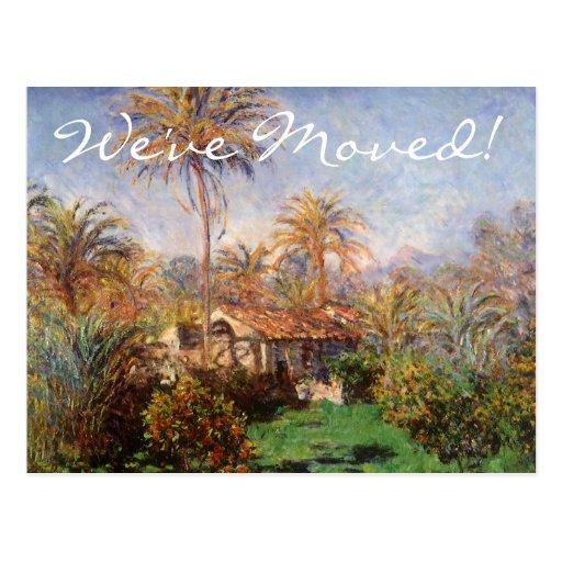 Granja en Bordighera de Monet, cambio de dirección Tarjeta Postal
