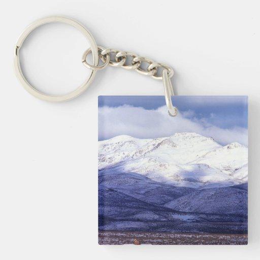 Granja en las montañas Idaho de Owyhee Llaveros
