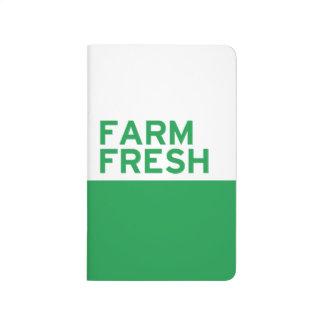 Granja fresca cuaderno grapado