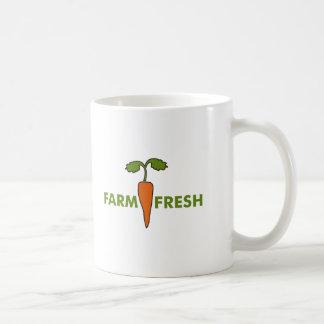 Granja fresca taza de café