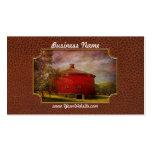 Granja - granero - granero redondo rojo tarjetas de visita