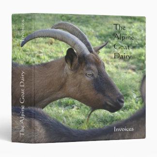 """Granja lechera 1,5"""" de la cabra carpeta"""