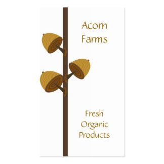 Granja orgánica con la bellota tarjetas de negocios