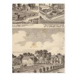 Granja, residencias y trabajos del tubo tarjetas postales