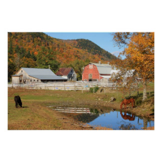 Granja River Valley del oeste Vermont Posters