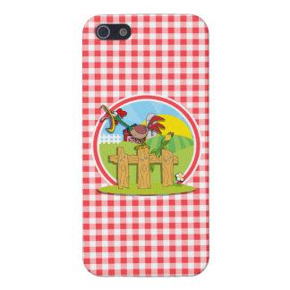 Granja Rootster; Guinga roja y blanca iPhone 5 Cárcasa