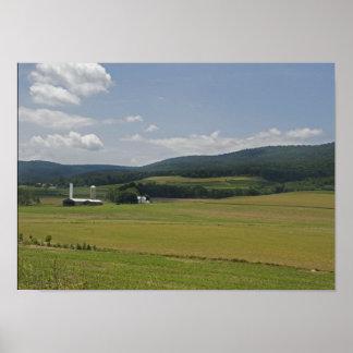 Granja rural póster