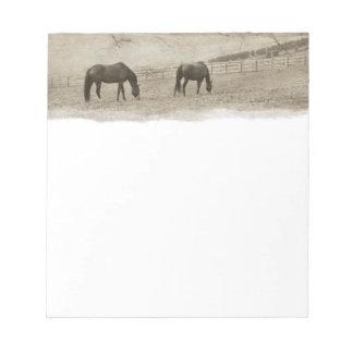 Granja rústica del caballo bloc de notas