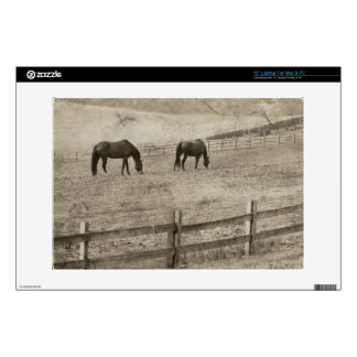 Granja rústica del caballo skins para 33cm portátil