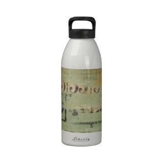 Granja rústica del collage del bingo botella de agua reutilizable