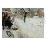 Granja sueca en invierno